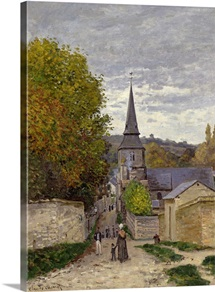 Street in Sainte-Adresse, 1868-70 (oil on canvas)