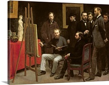 Studio at Batignolles, 1870 (oil on canvas)
