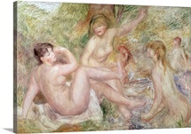 Study for the Large Bathers, 1885 1901 (oil on canvas)