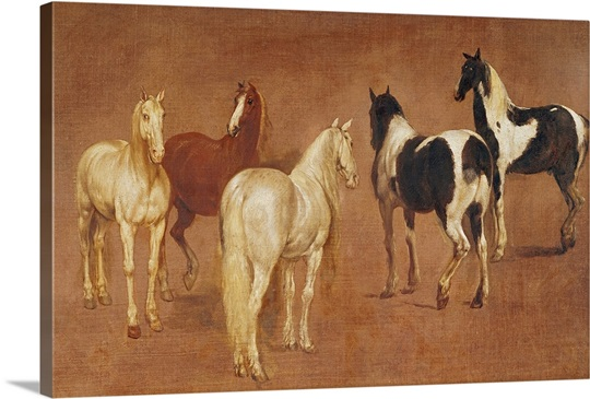 Study of Five Horses (oil on canvas)