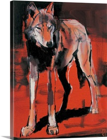 Summer Wolf, 2001 (mixed media on canvas)