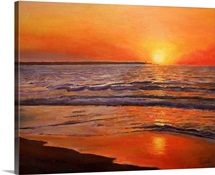Sunset and Tranquility, 2008 (oil on canvas)