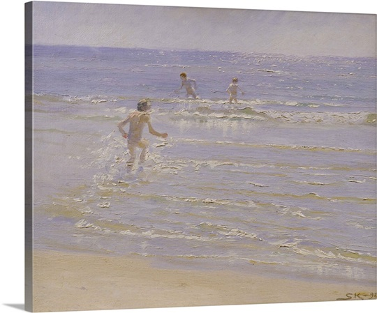 Sunshine at Skagen: Boys Swimming, 1892 (study)