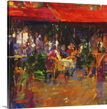 Table at Villefranche (oil on canvas)