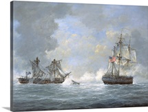 The action between U.S Frigate 'United States' and the British frigate 'Macedonian'