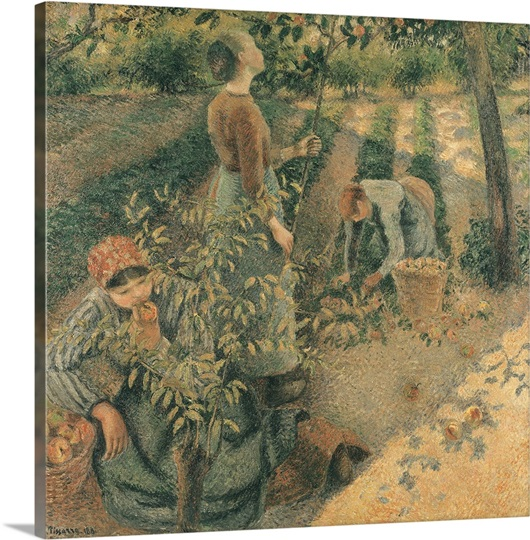 The Apple Pickers, 1886 (oil on canvas)