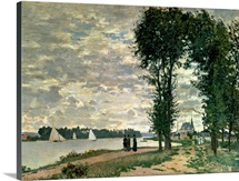 The Banks of the Seine at Argenteuil, 1872 (oil on canvas)