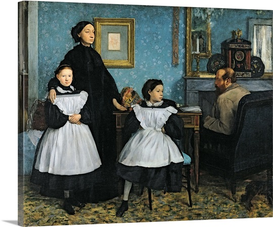 The Bellelli Family, 1858 67 (oil on canvas)