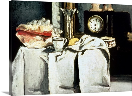 The Black Marble Clock, c.1870 (oil on canvas)