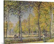 The Bois de Boulogne (oil on canvas)