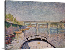 The Bridge at Asnieres, 1888 (oil on canvas)