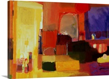The Changing Room, 2000 (acrylic on canvas)