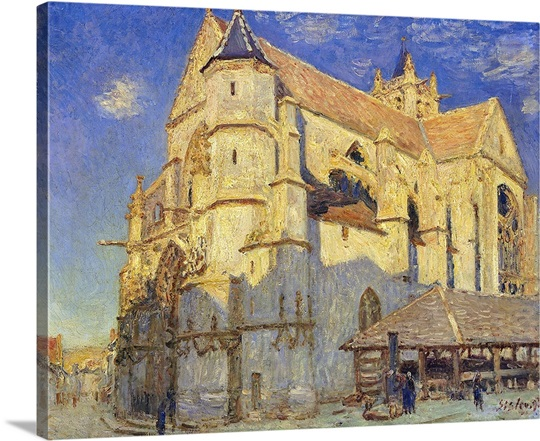 The Church at Moret, Frosty Weather, 1893 (oil on canvas)