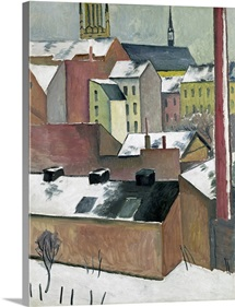 The Church of St Mary in Bonn in Snow, 1911 (oil on paper)
