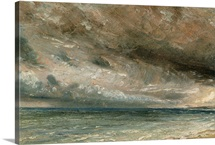 The Coast at Brighton - Stormy Evening, c.1828 (oil on paper laid on canvas)