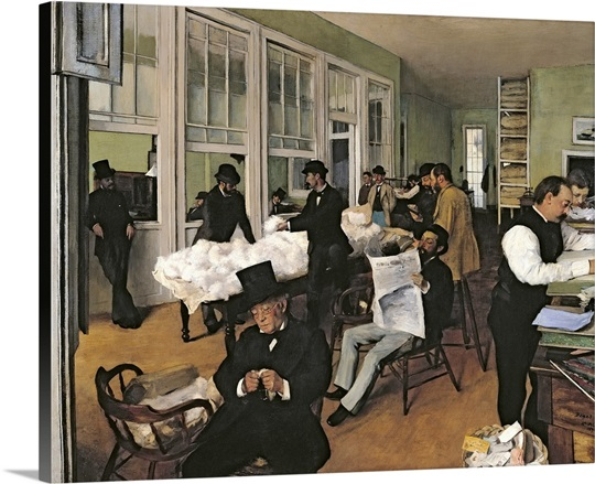 The Cotton Exchange, New Orleans, 1873 (oil on canvas)