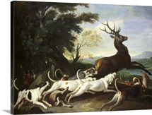 The Deer Hunt, 1718 (oil on canvas)