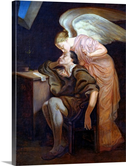 The Dream of the Poet or, The Kiss of the Muse, 1859 60 (oil on canvas)