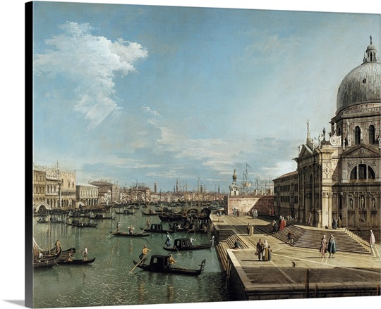 The Entrance to the Grand Canal and the church of Santa Maria della Salute