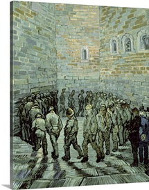 The Exercise Yard, or The Convict Prison, 1890 (oil on canvas)