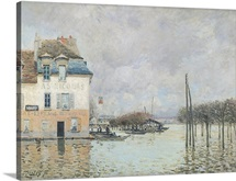 The Flood at Port Marly, 1876 (oil on canvas)