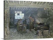 The Forge at Marly le Roi, Yvelines, 1875 (oil on canvas)