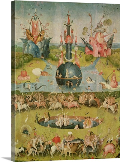 The Garden Of Earthly Delights Allegory Of Luxury Central Panel Of Triptych Photo