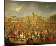 The Grand Place during Mardi Gras, Cambrai, 1765