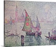 The Green Sail, Venice, 1904 (oil on canvas)