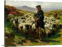 The Highland Shepherd, 1859 (oil on canvas)