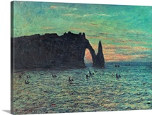 The Hollow Needle at Etretat, 1883 (oil on canvas)