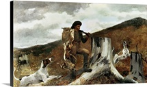 The Hunter and his Dogs, 1891 (oil on canvas)