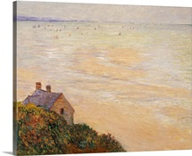 The Hut at Trouville, Low Tide, 1881 (oil on canvas)