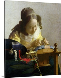 The Lacemaker, 1669 70 (oil on canvas)