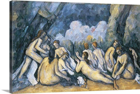 The Large Bathers, c.1900 05 (oil on canvas)