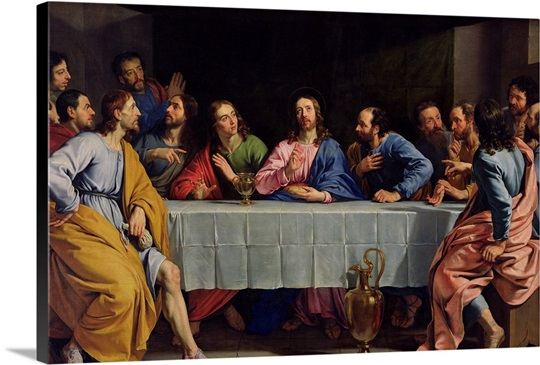The Last Supper, 1648 (oil on canvas)