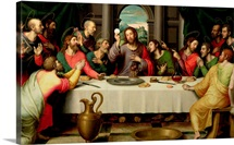 The Last Supper (oil on panel)