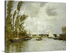 The Little Branch of the Seine at Argenteuil (oil on canvas)