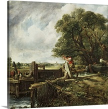 The Lock, 1824 (oil on canvas)