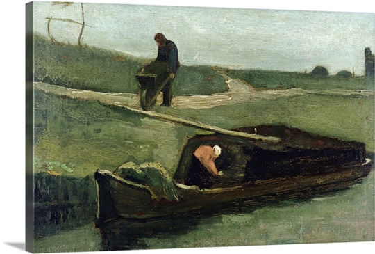 The Peat Boat, 1883 (oil on canvas)