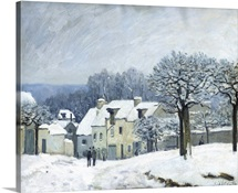 The Place du Chenil at Marly le Roi, Snow, 1876 (oil on canvas)