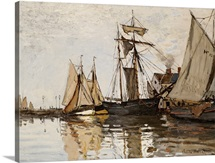 The Port of Honfleur, c.1865 (oil on canvas)