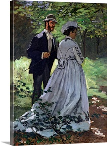 The Promenaders, or Bazille and Camille, 1865 (oil on canvas)