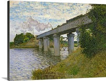 The Railway Bridge at Argenteuil, 1874 (oil on canvas)