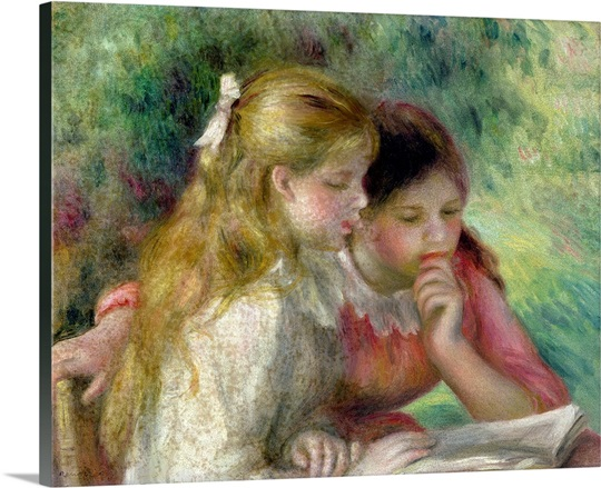 The Reading, c.1890 95 (oil on canvas) (see also 145689)