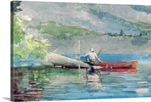 The Red Canoe, 1884 (w/c on paper)