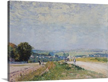 The Road to Montbuisson at Louveciennes, 1875 (oil on canvas)