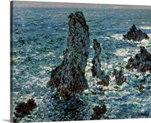 The Rocks at Belle Ile, 1886 (oil on canvas)