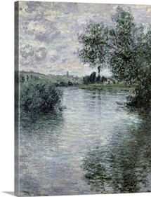 The Seine at Vetheuil, 1879 (oil on canvas)