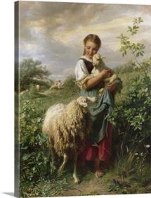 The Shepherdess, 1866